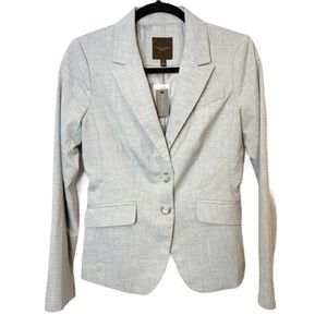 NWT The Limited Light Gray Double Button Blazer 14